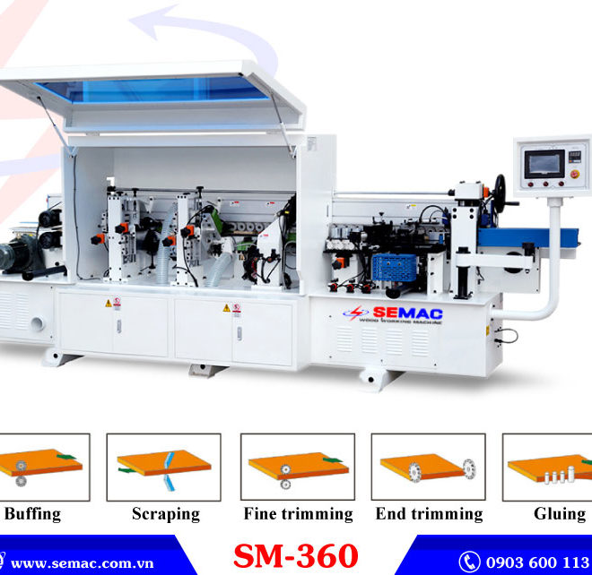 Máy dán cạnh thẳng tự đông 5 chức năng SM-360
