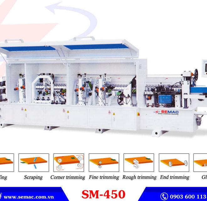 Máy dán cạnh thẳng tự động 7 chức năng SM-450