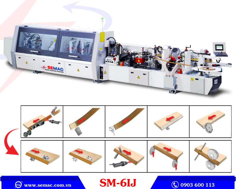 máy phay dán cạnh nghiêng tự động SM-6IJ