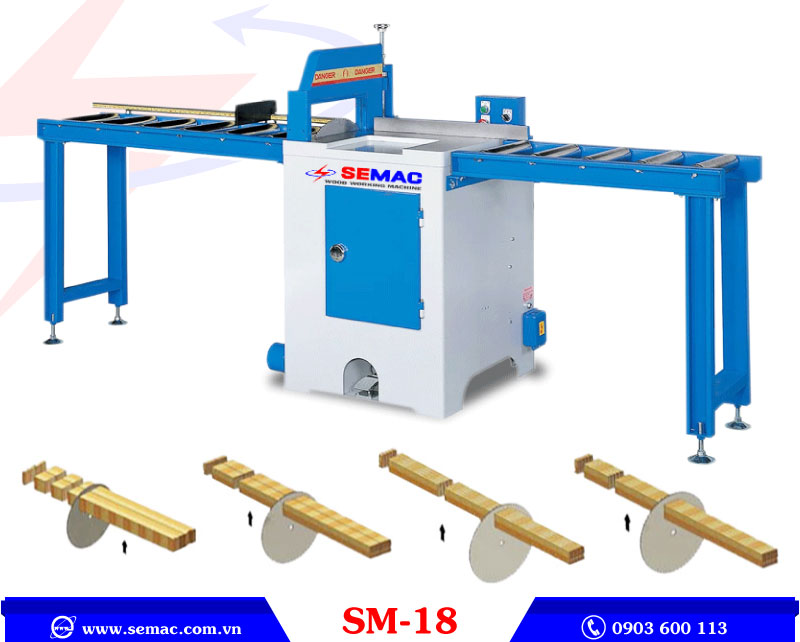 Máy cắt khúc gỗ SM-18