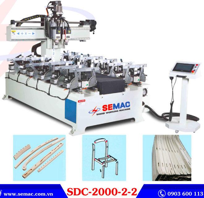 Máy đánh mộng âm cnc 2 đầu dài 2 mét SDC-2000-2-2