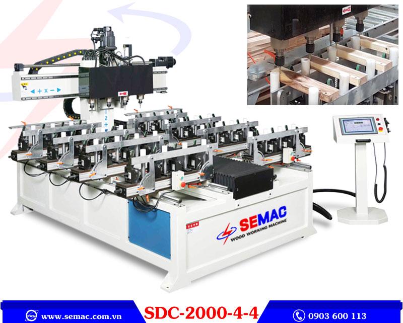 Máy làm mộng âm cnc 4 đầu SDC-2000-4-4