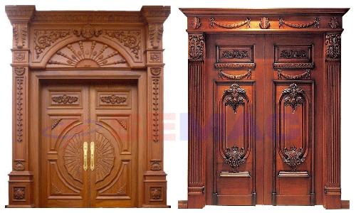 Cánh cửa gỗ cổ điển - truyền thống 2 cánh và 4 cánh