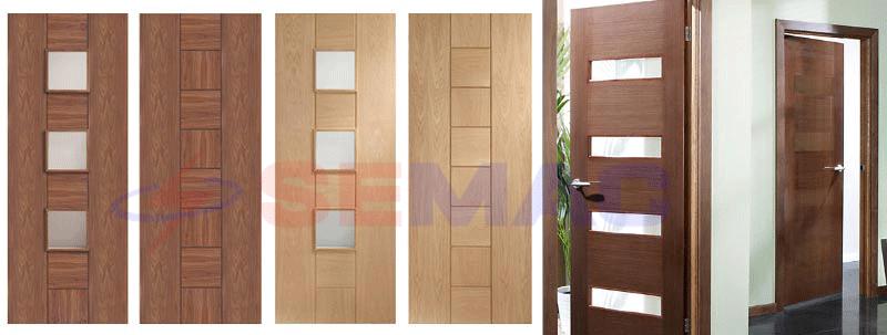 Cánh cửa gỗ công nghiệp đơn giản hiện đại