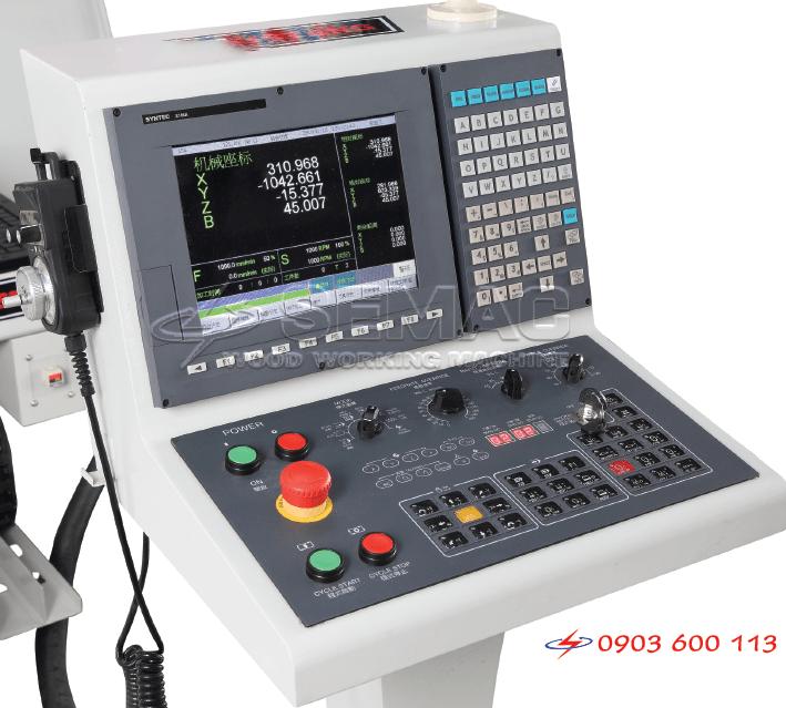 màn hình điều khiển kiểm soát hoạt động máy cnc 3 trục