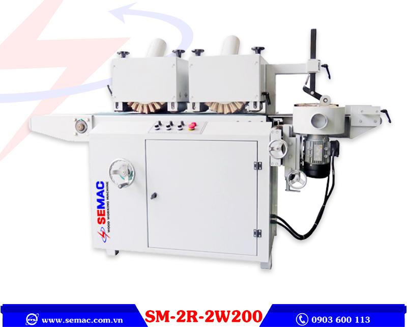 máy chà nhám chổi 3 mặt sm-2r-2w200