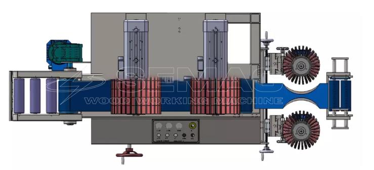 hình mô phỏng máy chà nhám chổi 3 mặt sm-2r-2w200