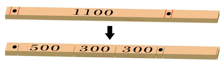 Chế độ cắt chiều dài được ưu tiên