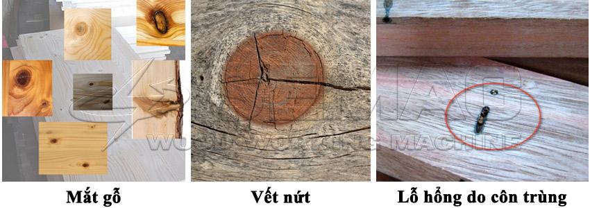 Các loại khuyết tật trên gỗ